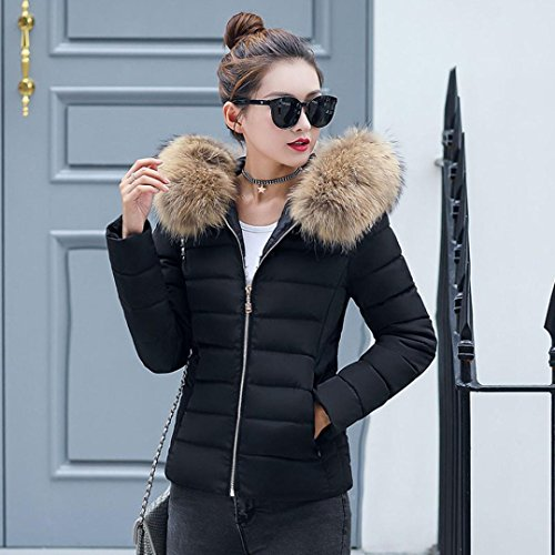 Sonnena New Womens Ladies Quilted Winter Coat Puffer Fur Collar ... 2af273dd55