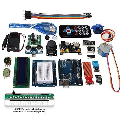 51Ai5JcWv5L - Smraza Conjunto Medio a UNO para Arduino con Tutorial y Conjunto de UNO R3,Relé de 5V,Modulo de Fuente de Alimentación,Servomotor, LCD1602 para Arduino Mega 2560 Nano UNO R3
