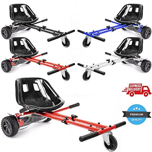 Ballino, hoverkart regolabile per hoverboard con ruote da 6,5', 8' e 10', accessorio per trasformare...