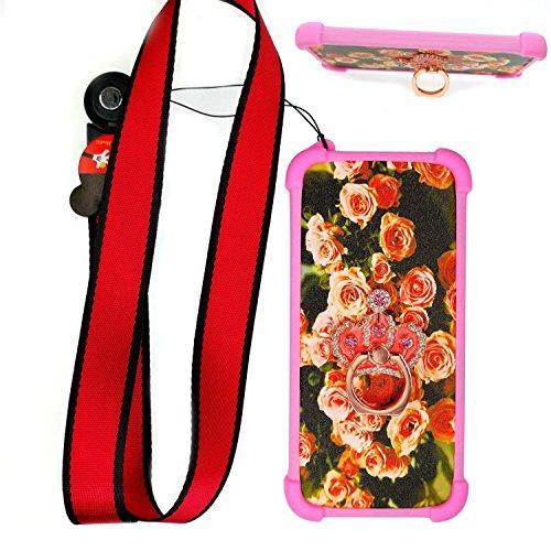 Custodia per Samsung Galaxy Trend Plus Gt-S7580 Custodia Bordo del Silicone + PC Card Stand Case Cover MG