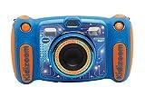 VTech - Kidizoom DUO 5.0 azul, cámara de fotos digital, infantil con 5 megapíxeles, pantalla a color, 10 funciones diferentes, 2 objetivos, (3480-507122)