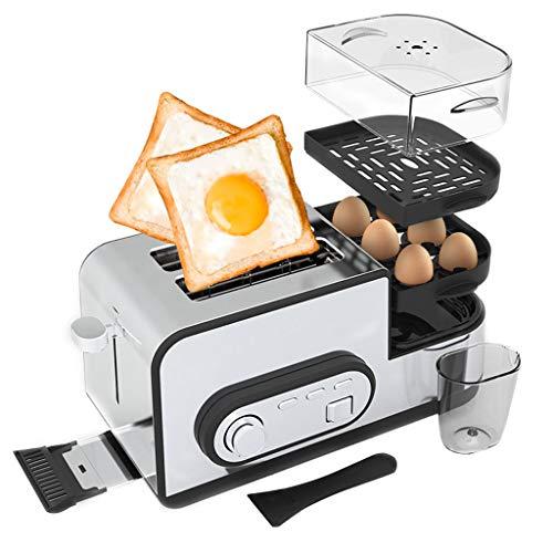 Tostapane, tostapane 5 in 1 con Caldaia per Uova, tostapane 2 fette con Mini Padella, piroscafo,...