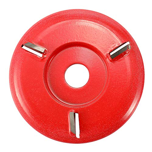 KKmoon Three Teeth Woodworking Turbo Tea Tray Digging Wood Carving Disc Tool Milling Cutter for 16mm Aperture Angle Grinder
