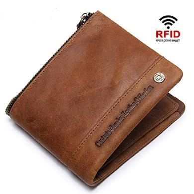 CONTACTS Mens Genuine Leather RFID Blocking Wallet 29