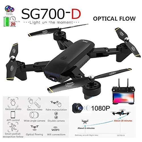RENYAYA RC Quadcopter Drone con 1080P HD WiFi Camera Flow Posizionamento 4 canali 6-Gyro con Funzione Altitude Hold, modalità Headless e One Key Return Home