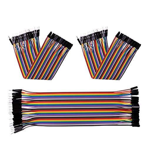 51AwL4 LgoL - ELEGOO 120 Piezas de Cable DuPont, 40 Pines Macho-Hembra, 40 Pines Macho-Macho, 40 Pines Hembra-Hembra, Cables Puente para Placas Prototipo (Protoboard) para Arduino