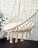 columpio jardín, silla colgante crochet macrame, decoración habitación niños bebe, regalo bebe, boho chic, bohemian, hamaca, columpio, balancin, decoración jardín, silla colgante interior