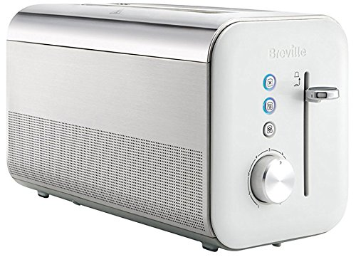 Breville Tostapane Verticale a 2 Fessure Lunghe, 1650 W, Bianco