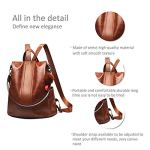 Paradox Girl's Water Resistant Vegan Leather Anti-Theft School Shoulder Backpack Bag (Black) 17
