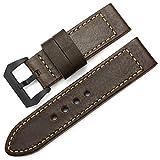 Fascia di cuoio Handmade della fascia di orologio da 26mm della fascia di stile dellinarcamento pre V dellacciaio per Panerai CHIMAERA