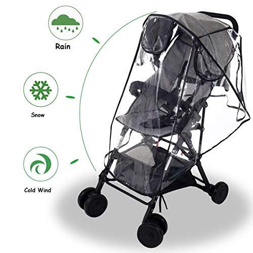 Wemk Passeggino Parapioggia Universale Parapioggia per passeggino Carrozzina Passeggino EVA Materiale con 3 Finestre