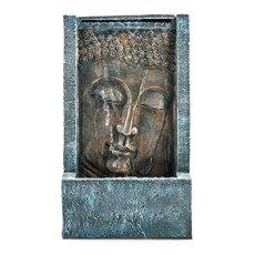 Pajoma 43107,0 Fuentes de Interior, diseño de Buda con iluminación LED Tashima poliresina, 48 cm