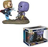 Funko- Pop Bobble 2-Pack: Marvel: Movie Moments: Thor vs Thanos AIW Idea Regalo, Statue, COLLEZIONABILI, Comics, Manga, Serie TV, Multicolore, 35799