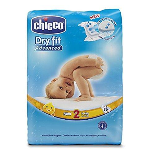 Chicco Dry Fit Pannolino Taglia Mini 3-6kg 50 Pezzi