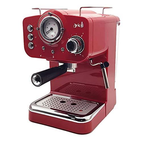 ARIELLI KM-501R Modello 2019 Macchina Caffè Espresso Macinato/Cialde 2 Filtri per 1/2 tazze...