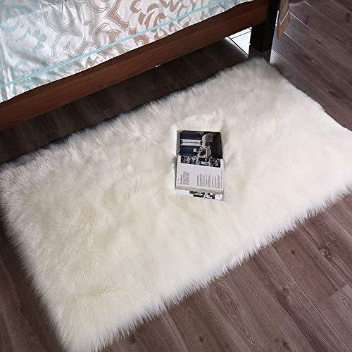 YIHAIC Faux tappetto di pelle di pecora tappeto , imitazione lana, adatto per tappeto per soggiorno,...