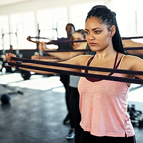 Bande Elastique Fitness, SGODDE Bande de Resistance Set(4) en Latex, Équipement d'Exercices pour Musculation Pilates Squat Sport Rééducation... 26