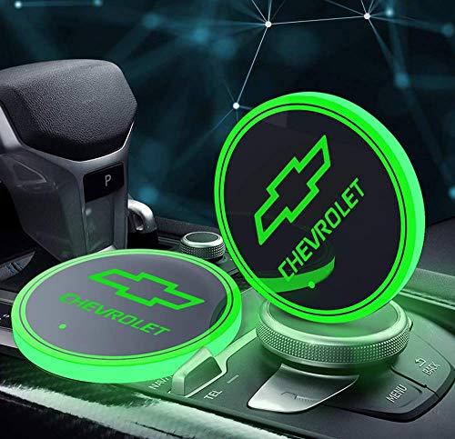 Interesting car Lot de 2 Lampes LED pour Porte-gobelet de Voiture 7 Couleurs changeantes USB Tapis de Charge Luminescent Tampon LED pour int... 23