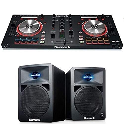 Numark Mixtrack Pro lll Controller Completo per Dj a 2 Deck, per Serato Dj, con Interfaccia Audio Loops Remix Tool Kit + N-Wave 360 - Monitor da Tavolo Compatti Full Range per DJ