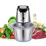 Nestling® 500W Elektrisch Universalzerkleinerer,Gemüseschneider Küchenmaschine Gürtel 4 Scharfe Klingen,Geeignet für Babynahrung, Fleisch,Zwiebeln,Gemüse,1.2L