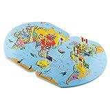 Juguetes Educativos Rompecabezas Mapa del Mundo Y 36 Banderas Geografía Madera
