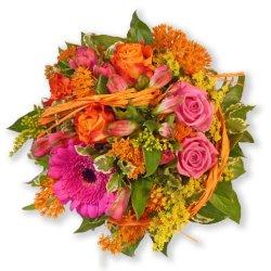 """floristikvergleich.de Blumenstrauß Blumenversand """"Fröhliche Grüße"""" +Gratis Grußkarte+Wunschtermin+Frischhaltemittel+Geschenkverpackung"""