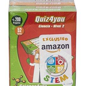 Science4you Pack Exclusivo Amazon 4xQuiz4you Ciencias, Dinosaurios, Cuerpo humano y Cálculo mental