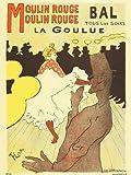 onthewall Art Nouveau Póster por Henri de Toulouse-Lautrec Moulin Rouge PDP 030