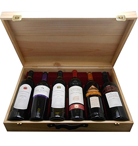 Cap Monde Worldwide Wine Selection Gift Pack, 75 cl (Case of 6)