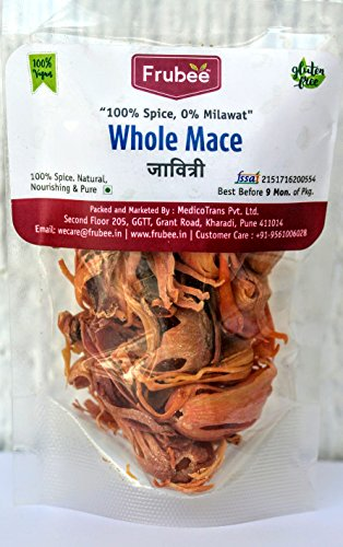 Frubee Jaavitri (Whole Mace)-80 Grams (in Convenient Re-Sealable Packs of 40 Grams Each)