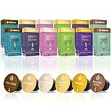 Gourmesso Flavour Box - 120 Nespresso kompatible Kaffeekapseln - 100% Fairtrade - 6 ausgefallene Geschmacksrichtungen