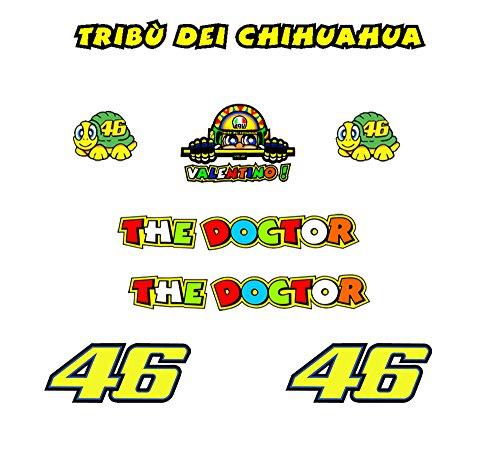 Pegatinas moto tribu chihuahua rossi vr46 r328
