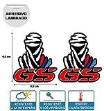 X 2 Pegatinas STIKERS Rally Compatible con Dakar GS BMW Moto IMPRESIÓN Digital Laminado Protector