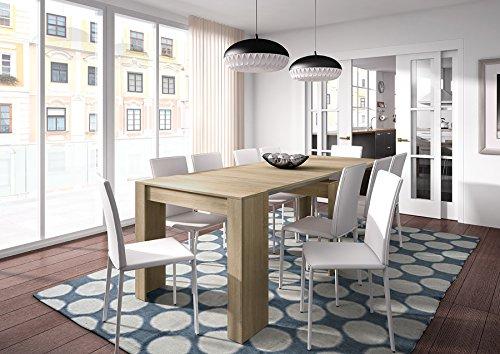 Habitdesign - Mesa de comedor consola extensible, mesa para salon recibidor  o cocina