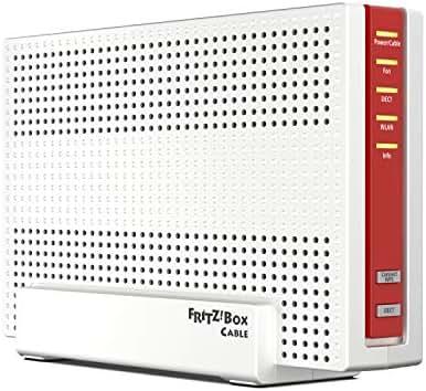 AVM Fritz!Box 6591 Cable WLAN AC + N Router (DOCSIS-3.1-Kabelmodem, Dual-WLAN Ac+N (MU-MIMO) mit 1.733 (5 GHz) + 800 Mbit/S (2, 4 GHz), VoIP-Telefonanlage)