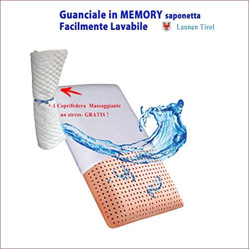 Cuscino Guanciale in Memory Foam Lavabile - Modello Saponetta - Launen Tirol