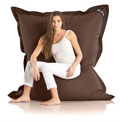 Poltrona a sacco originale 'Lazy Bag' per esterni dimensioni XXL - 180 x 140cm imbottitura: 360 L, Nylon, marrone, Nylon