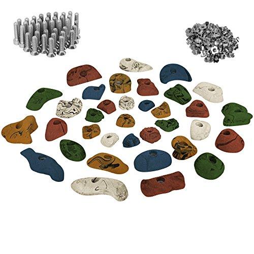 ALPIDEX 35 presas set de iniciación para niños - tornillos y 100 tuercas de inserción inclusive, Color:mixto