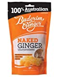 Buderim Uncrystallised Naked Sweet Ginger, 200g - Ideal for Baking or as a Snack