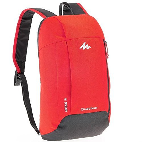Quechua Arpenaz 10 Hiking Backpack (Red/Grey)