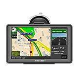 GPS Navi Navigation für Auto LKW PKW KFZ Navigationsgerät 7 Zoll Lebenslang Kostenloses Kartenupdate POI Blitzerwarnung Sprachführung Fahrspurassistent 2018 Europa Karten