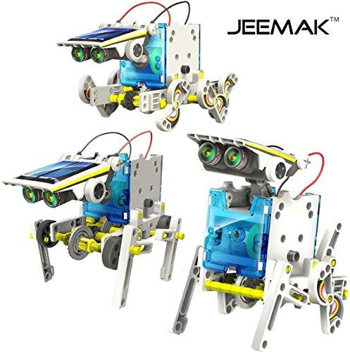 51C5FGURUDL - JEEMAK 14-en-1 para la Educación Solar Robot Kit