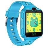 AGPTEK Kinder Smartwatch, Smart Watch Phone mit Musik Player, 1,44 Zoll LCD-Touchscreen-Uhr mit Rechner, 7 Spielen, Digitalkamera, Wecker für Jungen und Mädchen, unterstützt bis 32GB SD Karte, Blau