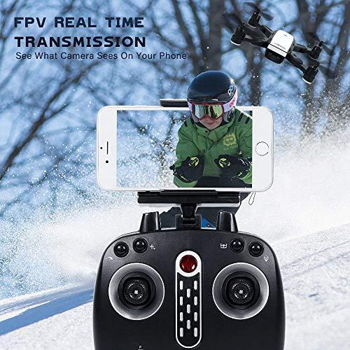 LM Drone Drones et caméras WiFi Quadcopter et 1080P caméra vidéo en Direct Hauteur Pliable Garder Mode sans tête GPS Retour Automatique 28