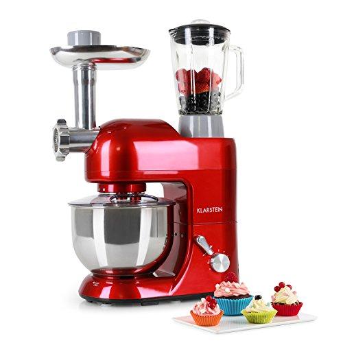 Klarstein Lucia Rossa • robot da cucina • mixer • impastatrice • 1200 W • 5 L • sistema...
