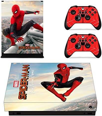 Sticker Moments Xbox One X Konsolen-Controller Skin Set Vinyl-Aufkleber Aufkleber Aufkleber für Xbox One X (XB1 X) Konsole Spiderman