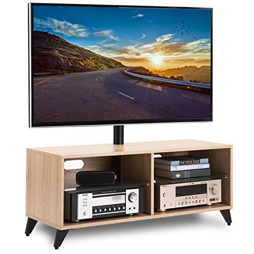 RFIVER Supporto TV da Pavimento Girevole Porta TV Stand per Schermi 32 a 65 pollici TW4001