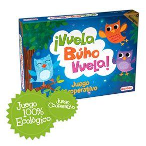 ¡Vuela Búho Vuela! Juego de mesa para niños cooperativo, Juego ecológico totalmente reciclable