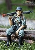 Deutscher Soldat MG42 Schütze Wehrmacht Figur handbemalt 1:16