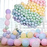 LAKIND Globos Pastel 100-PACK Globos Macaron Pastel Color Latex Balloon Graduaciones, Fiestas, cumpleaños, día de San Valentín, Decoraciones (100-PACK)